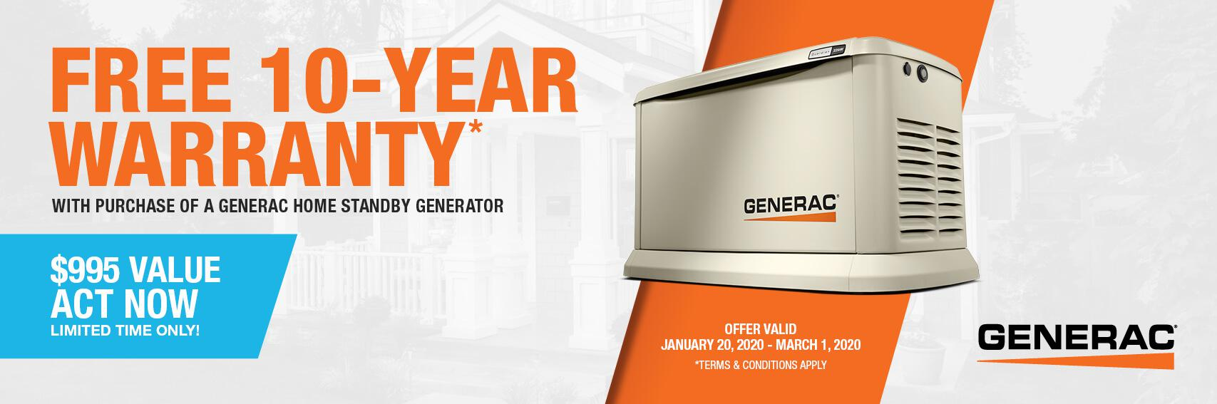 Homestandby Generator Deal | Warranty Offer | Generac Dealer | Onaway, MI